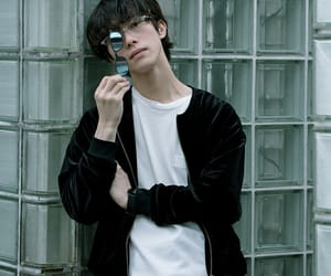 aesthetic, asian boy, and glasses image