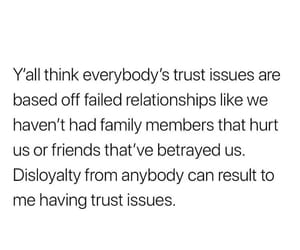 betrayal, trust issues, and disloyalty image