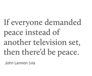john lennon, peace, and sacrifice image