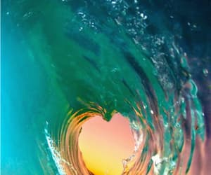 sunset beach wave image