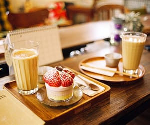 food, strawberry, and drink image