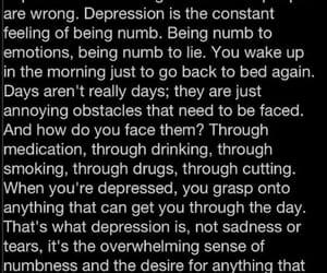 depression, sad, and NUMB image