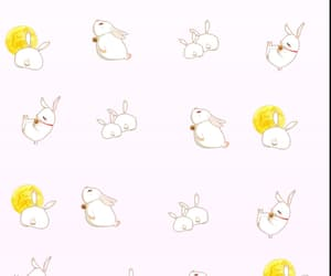 background, moon, and rabbit image