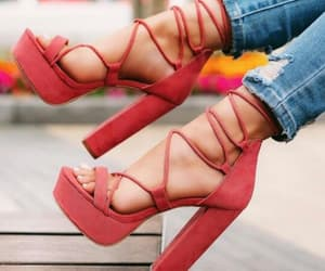 coral, fashion, and heels image