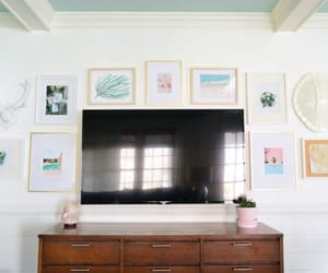 home decor, television, and picture frames image
