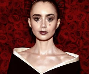 MET, lily collins, and met gala image