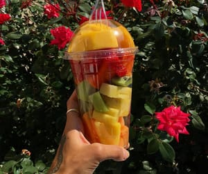 fruit, flowers, and summer image