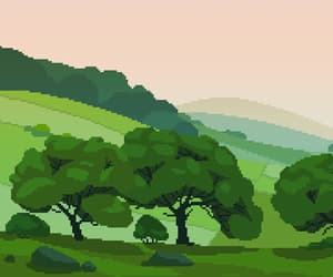 gif, nature, and pixel art image