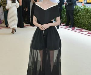 lily collins, black, and met gala image