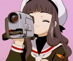 anime, tomoyo, and sakura card captor image