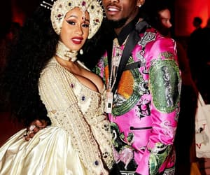 celebrity, offset, and cardi b image