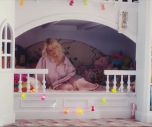bed, christina aguilera, and pink image