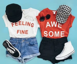 accesories, shorts, and sneakers image