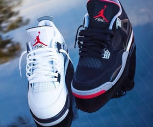 black, fashion, and jordans image