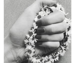 flowers, dziewczyna, and vintage image