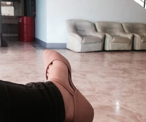 waiting, lobby, and shoes image