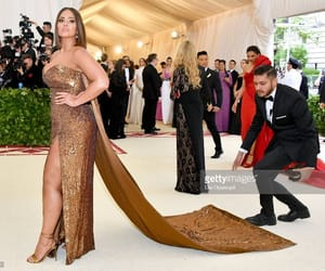 dress, ashley graham, and golden image