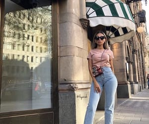 fashion style, gucci sunglasses, and outfit clothes image