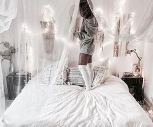 bed, girl, and comfy image