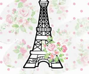 background, eiffel tower, and florals image