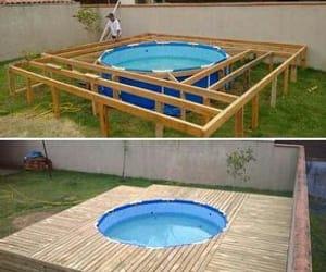 diy, pool, and house image