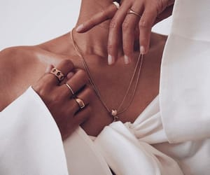 beauty, necklace, and ring image