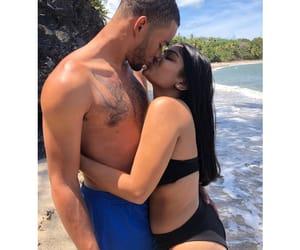 beach, cute, and love image