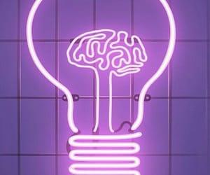 light, neon, and purple image