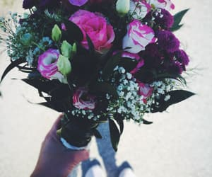 blooming, roses, and bouqet image