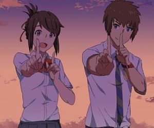 anime, boy and girl, and couple image