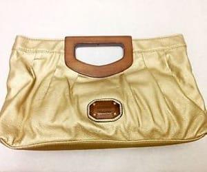 designer, ebay, and gold clutch image