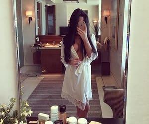 fashion, girl, and robe image