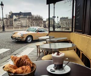 cafe, car, and coffee image