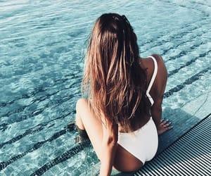 bikini, girl, and hair image