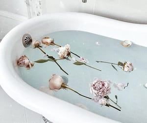 flowers, bath, and luxury image