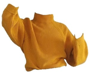 png, yellow, and turtleneck image