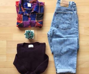 denim, fashion, and highwaisted image