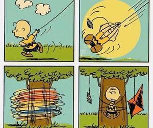charlie brown, kites, and peanuts image