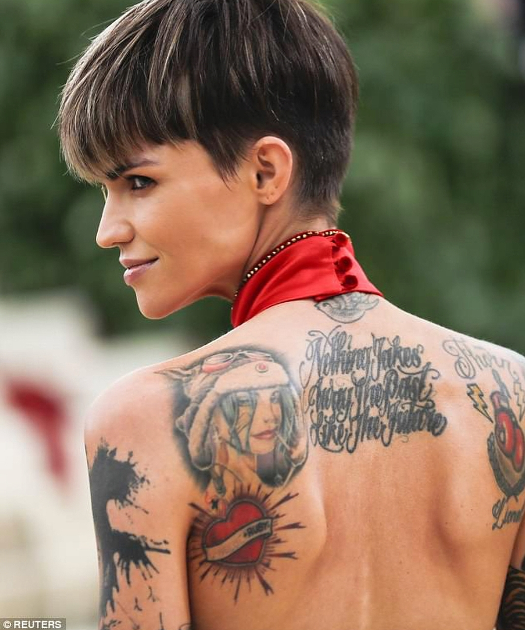 tattoo, ruby rose, and art image