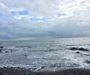 beach, clouds, and dublin image