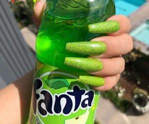 nails, fanta, and green image