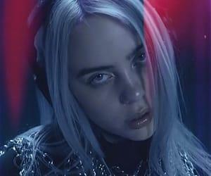 billie, blue, and dark image