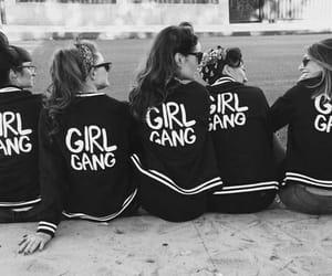girl, girl gang, and black and white image