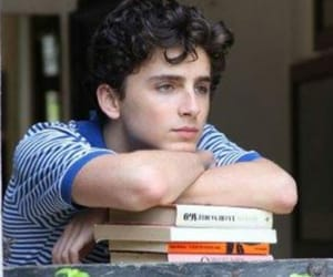 actor, book, and timothee chalamet image