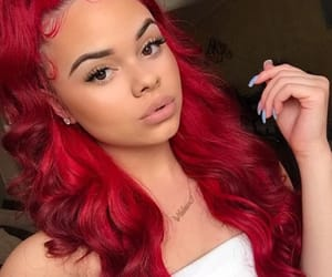 hair, red, and makeup image