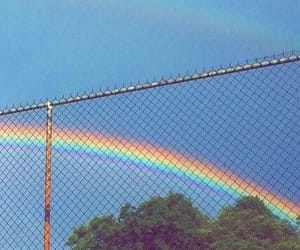 beautiful, rainbow, and blue image