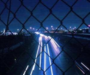 blue, lights, and cars image