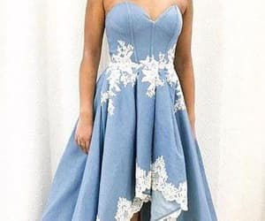 dress, high low dress, and prom dress image