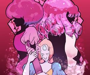 pearl, rose quartz, and pink diamond image