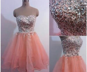 party dress, graduation dress, and short prom dress image